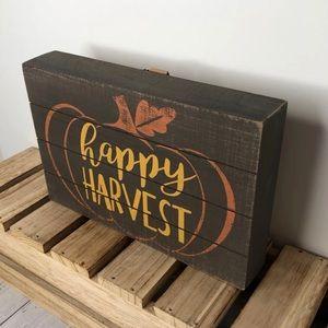 Hobby Lobby Accents - Happy Harvest Pumpkin Wood Sign